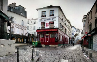 The cobblestone streets of old Paris