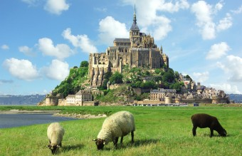 The island of Mont Saint-Michel