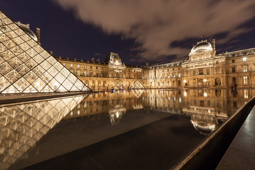 The sprawling museum of the Louvre in Paris