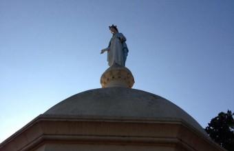 Mary adorns an island chapel