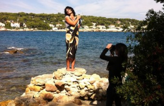 Modeling on the path around the Cap d'Antibes2