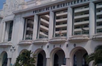 Suicidal model at the Palais de la Mediteranee in Nice