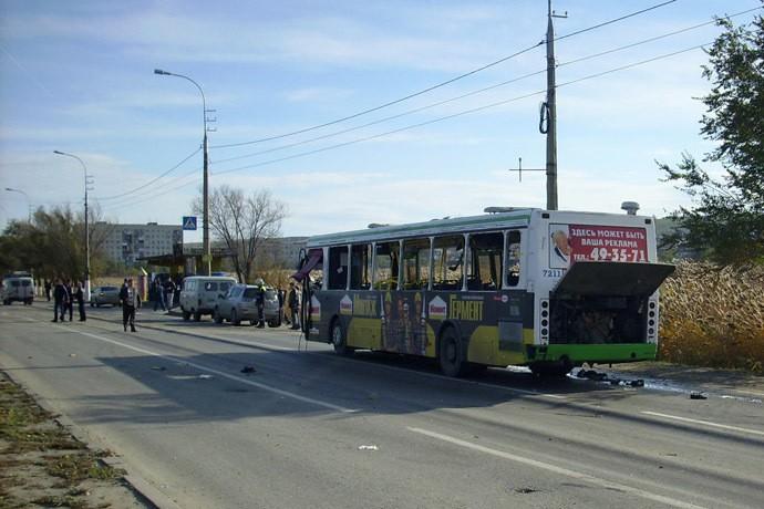 Взрыв пассажирского автобуса в Волгограде