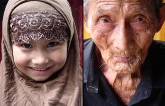 Uyghur Girl & Centrury Villager