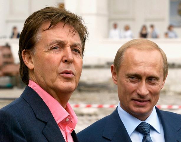 RUSSIAN PRESIDENT PUTIN AND BRITISH POP STAR SIR PAUL MCCARTNEY