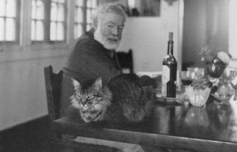 "Ernest Hemingway with ""Nick"""