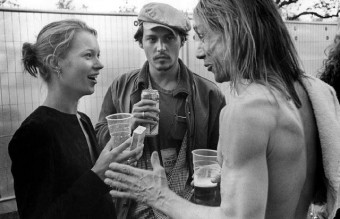 Kate Moss, Johnny Depp & Iggy Pop, London, England, 1996,by bob gruen