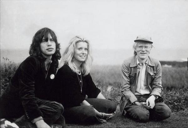 Montauk, 1975 — Mick Jagger, Catherine Deneuve, Andy Warhol