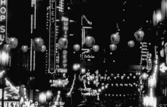 San Francisco Chinatown at Night, 1950s