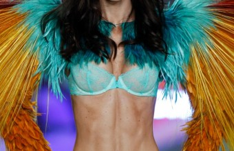 DIRECTINPUT~  This image has been directly inputted by the user. The photo desk has not viewed this image or cleared rights to the image. The image  will be purged from Merlin in 14 days unless it is outputted for production or arrangements are made with the photo desk. Hillary Rhoda walks the runway at the 2013 Victoria's Secret Fashion Show in New York City on November 13, 2013.
