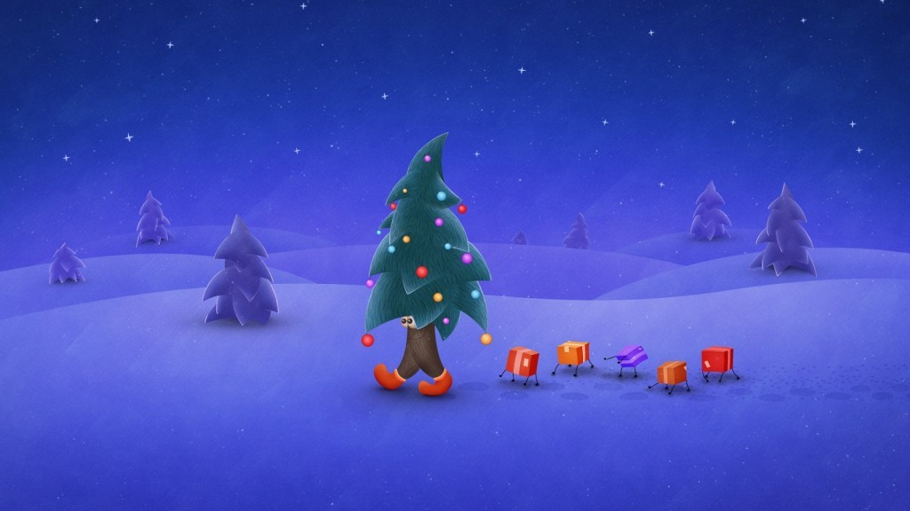 Funny Christmas Tree Background