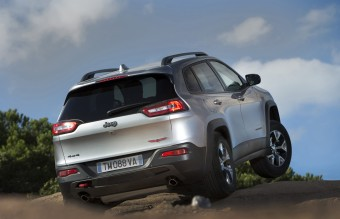 The all-new 2014 Jeep Cherokee Trailhawk model with the standard