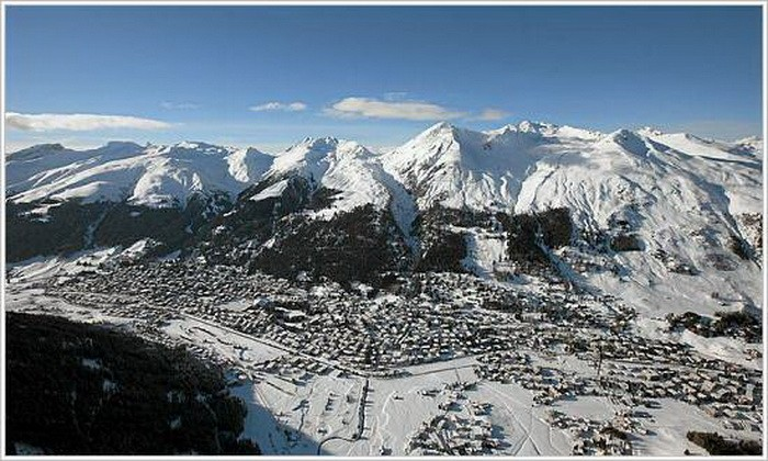 Aerial photo of Davos