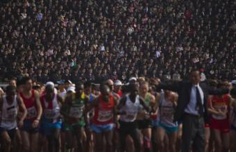 APTOPIX North Korea Marathon