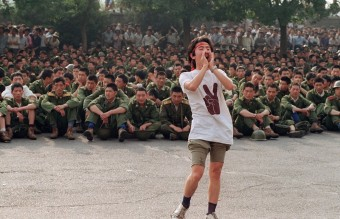 June 3, 1989 - A Lone Student Asking the Military to Leave (AFP)