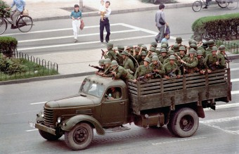 June 5, 1989 - A Truck Brings More PLA Troops to the Square