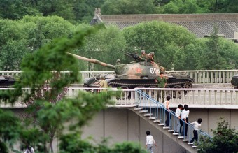 June 5, 1989 - Soldier Threatens Pedestrians with Gun (AFP)