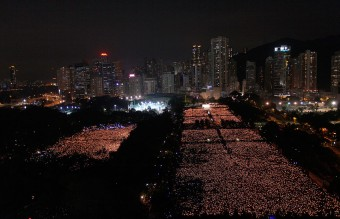 Tiananmen Square Nowadays - A Candlelight Vigil in Hong Kong's Victoria Park in Memory of 64 (Reuters)