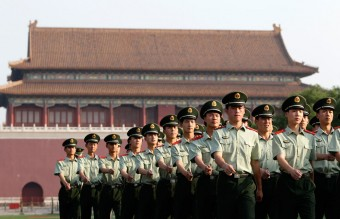 Tiananmen Square Nowadays - PLA Soldiers Marching(Reuters)