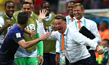 Louis van Gaal, right, and his Holland side have shown they can switch to suit their circumstances