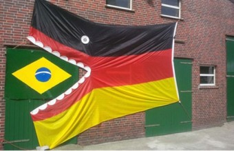 2014-FIFA-World-Cup-Brazil-Lost-1-7-to-Germany-Germany-Flag-Eat-Brazil-Flag