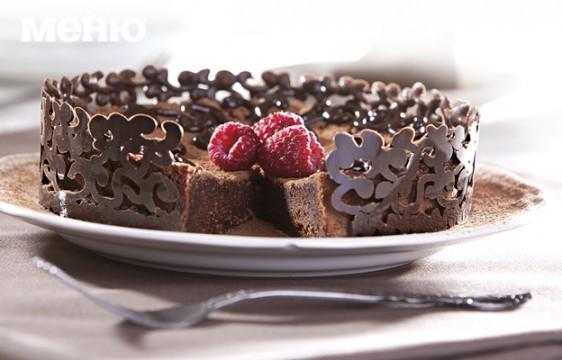 Торта с шоколадова дантела 2