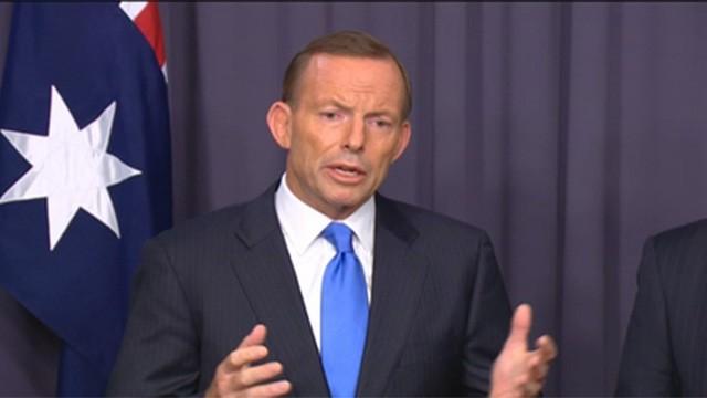 Tony Abbott at a press conference