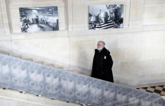 Architect Jean-Francois Bodin walks up the stairs during the renovation of the Hotel Sale known as the Picasso Museum in the Marais district of Paris