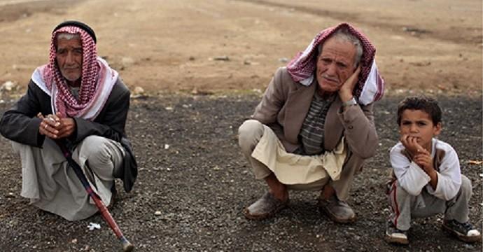 Kurds in a refugee camp in Sanliurfa, Turkey