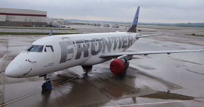 The passenger travelled on Frontier Airlines