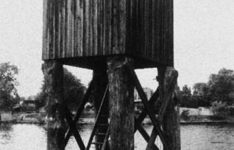 Wachturm Berliner Mauer 1960er Jahre