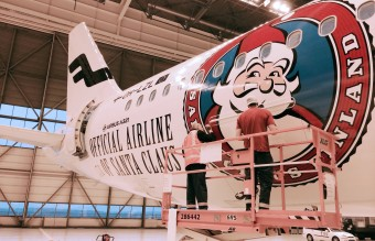 Finnair´s Airbus 321 Sharklet with Santa Claus livery
