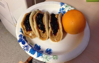 19.peanut butter and jelly pancake tacos
