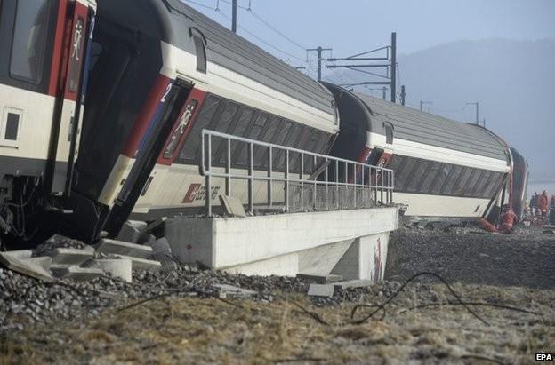 Катастрофа на влак в Швейцария