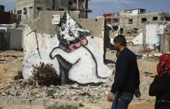 Banksy Kitten Highlights Gaza's Plight