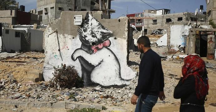 Banksy Kitten Highlights Gaza's Plight