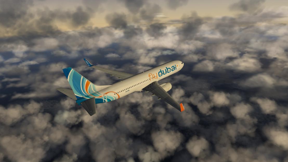 FlyDubai 737-800 infight