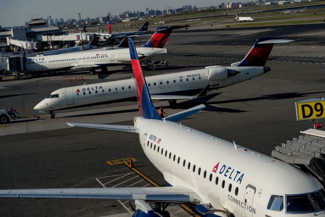 A Delta Air Lines Inc. Terminal Ahead Of Earnings Figures