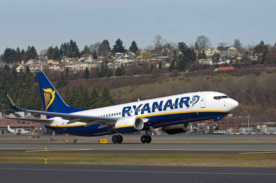 Ryanair 200th 737 Takeoff at Boeing FieldK64650