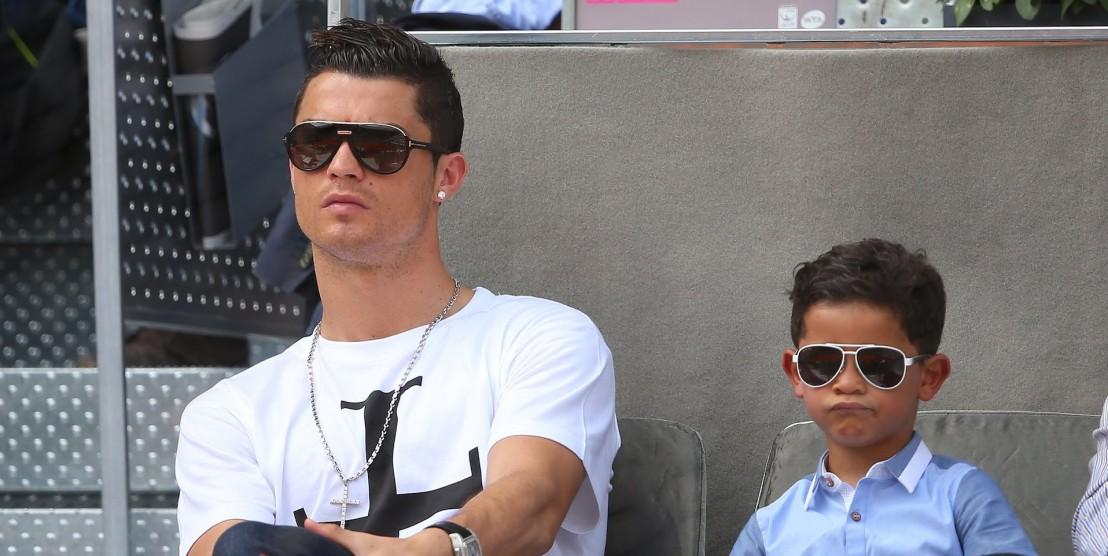 Cristiano Ronaldo and his son