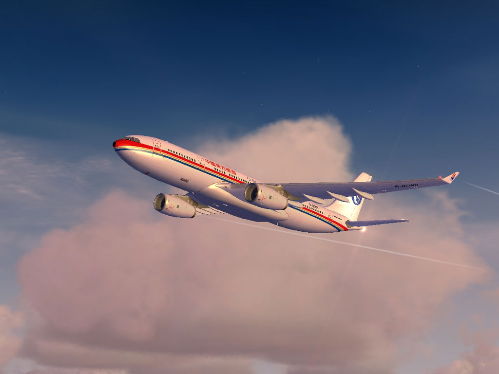 China Eastern Airbus A330 in flight