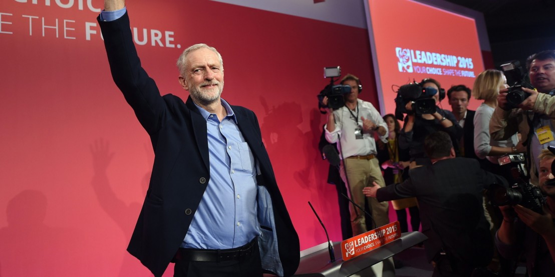 New Labour party leader Jeremy Corbyn