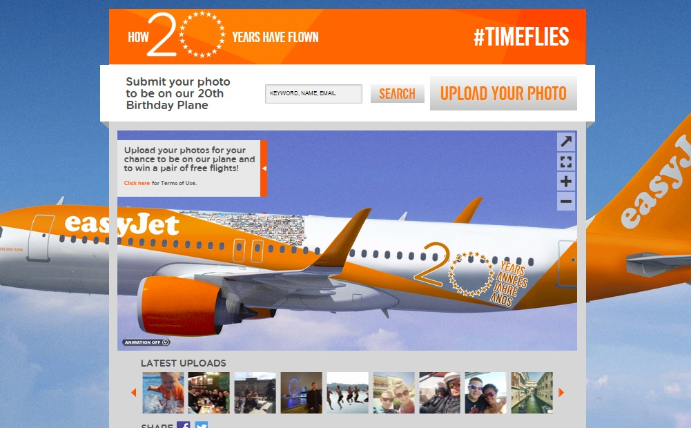 The easyJet 20th Birthday Plane