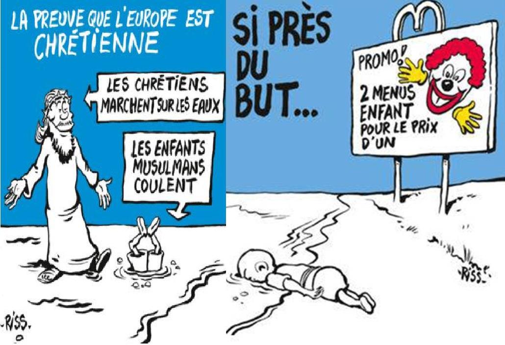 Шарли Ебдо, Айлян Кюрди, карикатури