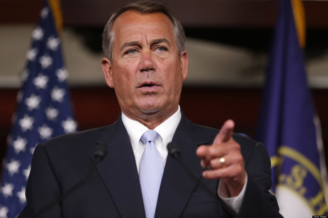 John Boehner Holds Weekly Press Briefing At The Capitol