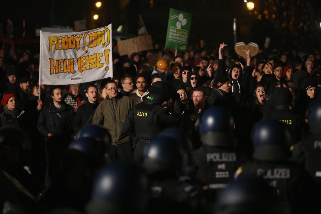 Дрезден протести