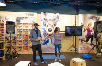 Reebok представи пред медии и фенове на спорта първия си специализиран магазин в България, който се намира на ниво 1 в столичния Сердика Център.