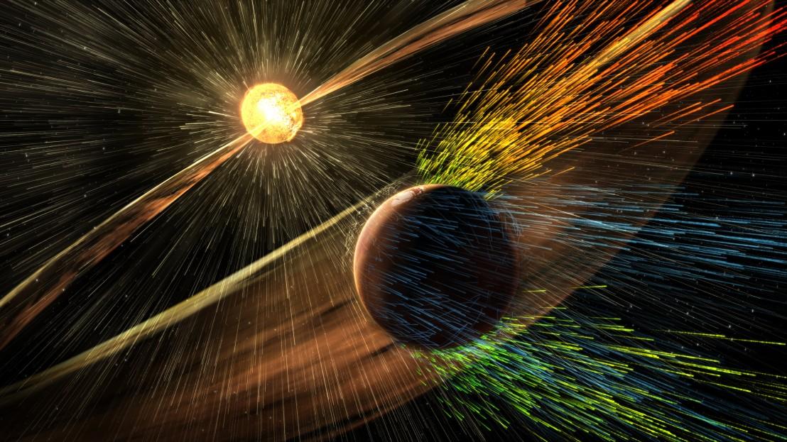 слънчева буря на марс