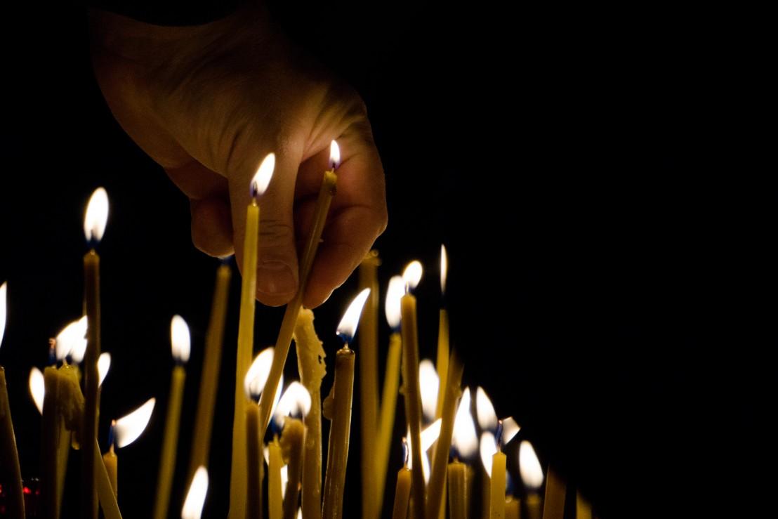 свещи, задушница