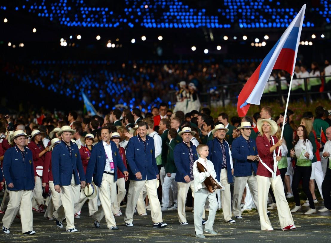 знаменосец,лондон 2012,мария шарапова,олимпиада,олимпийски игри,руска делегация